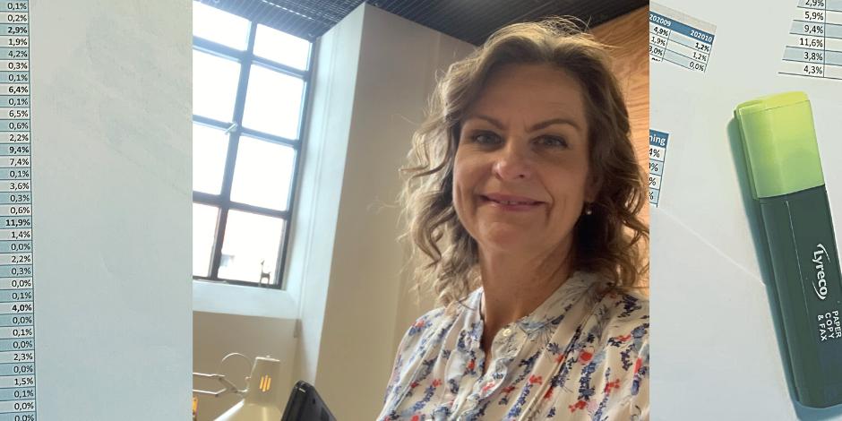 Anne Sophie Hensgen ser på sygefraværsdata